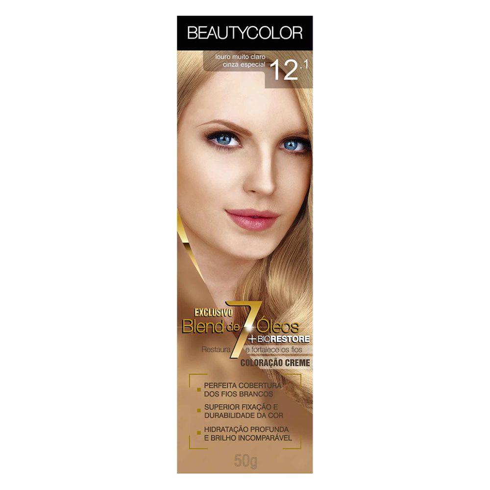 Coloração Beauty Color 12.1 Louro Muito Claro Cinza Especial  - Sofí Cosméticos