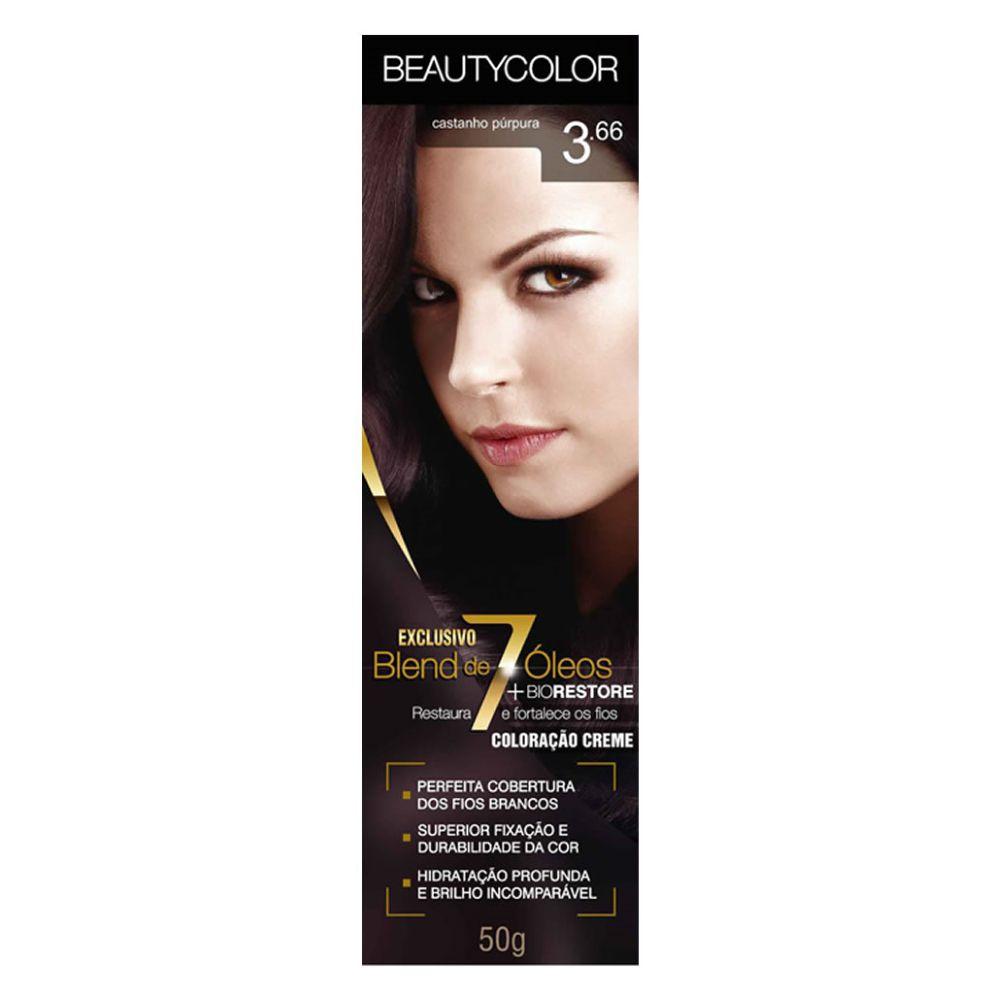 Coloração Beauty Color 3.66 Castanho Púrpura