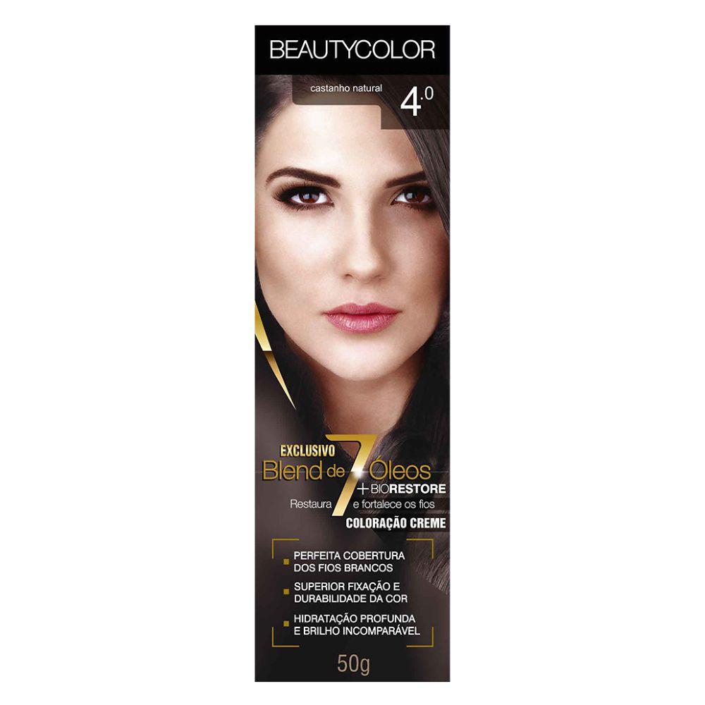 Coloração Beauty Color 4.0 Castanho Natural  - Sofí Cosméticos