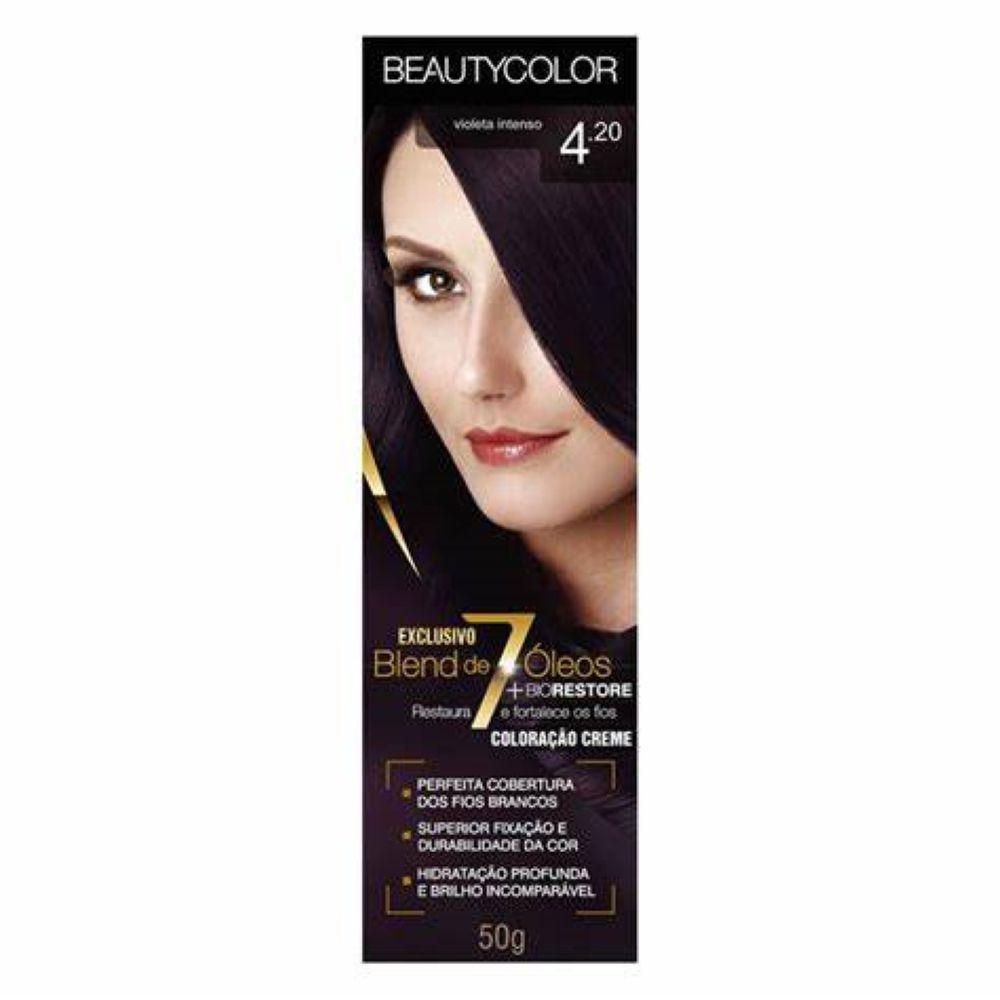 Coloração Beauty Color 4.20 Violeta intenso