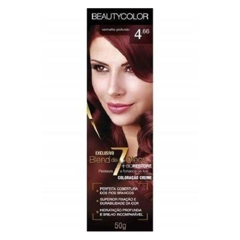 Coloração Beauty Color 4.66 Vermelho Profundo
