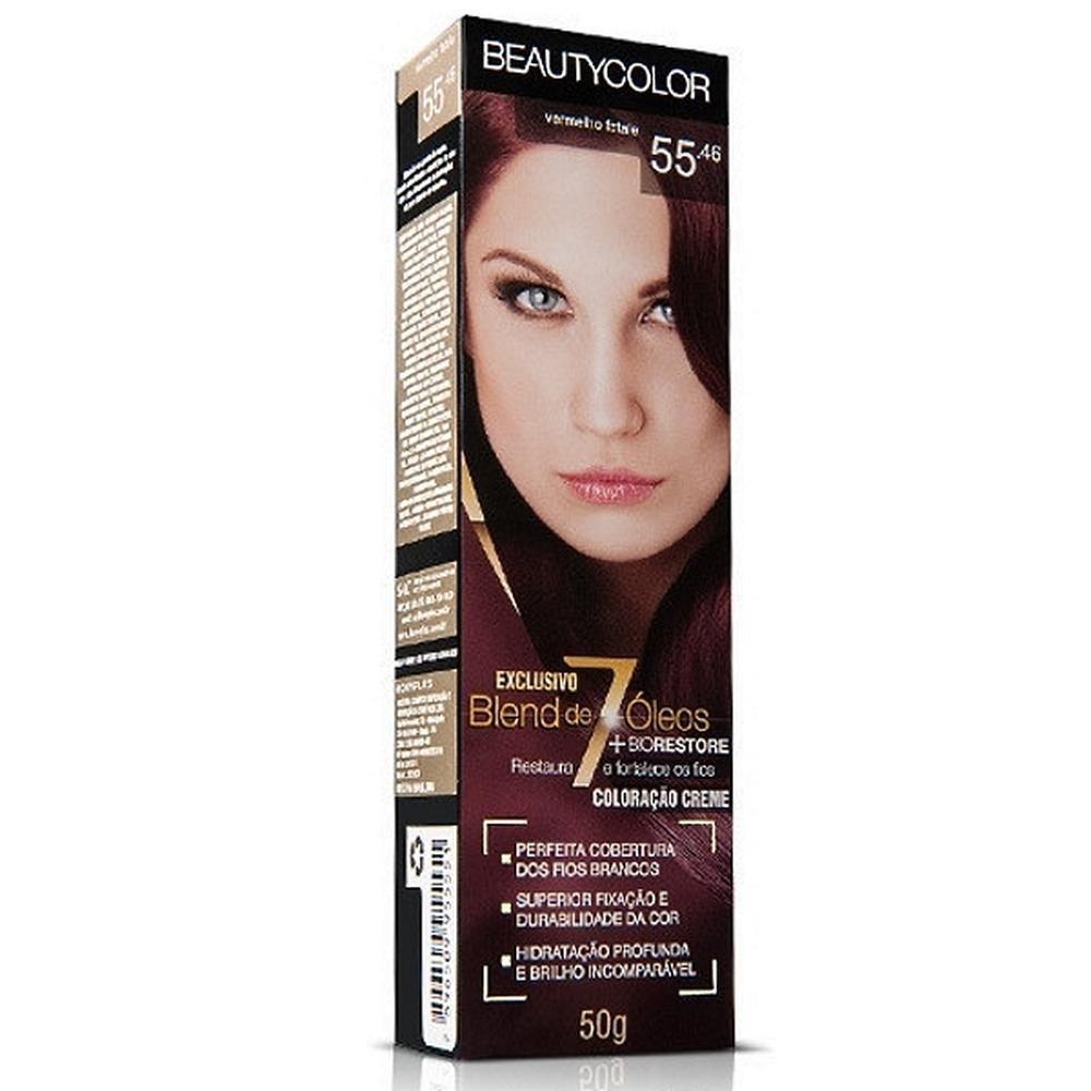 Coloração Beauty Color 55.46 Vermelho Fatale