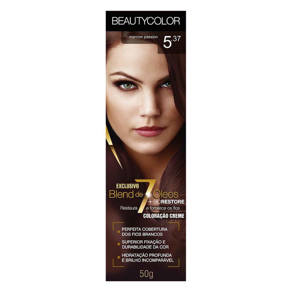 Coloração Beauty Color 5.37 Marrom Passion