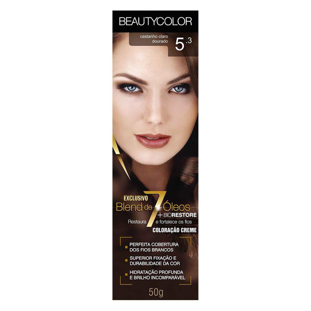 Coloração Beauty Color 5.3 Castanho Claro Dourado