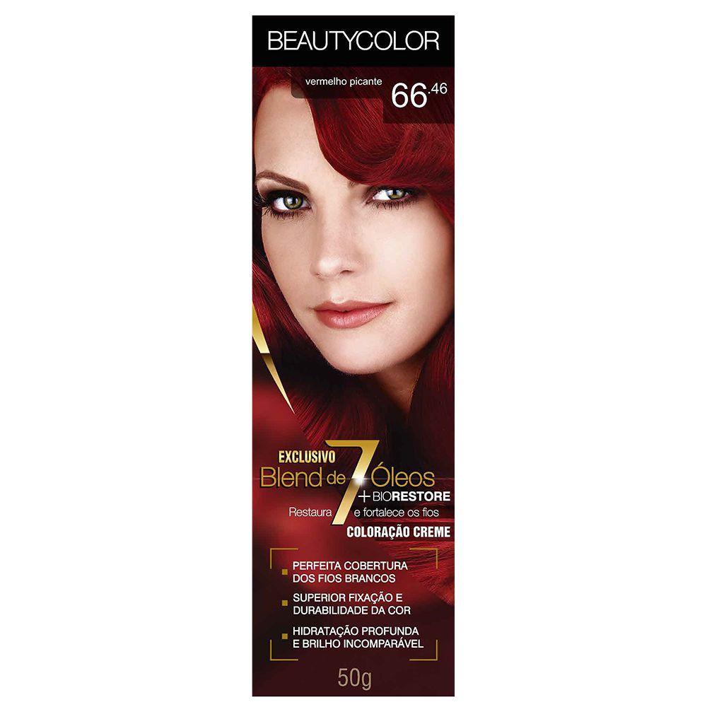 Coloração Beauty Color 66.46 Vermelho Picante