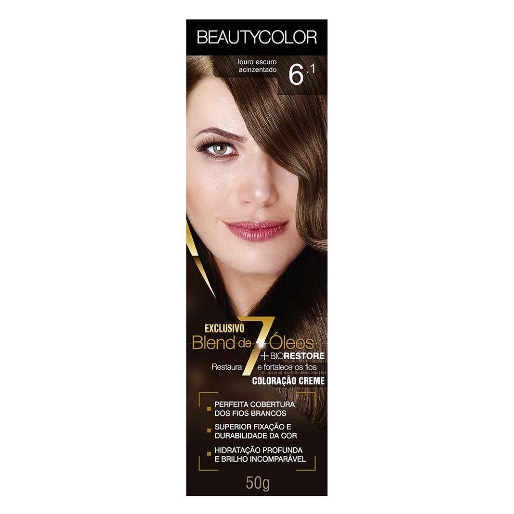 Coloração Beauty Color 6.1 Louro Escuro Acinzentado