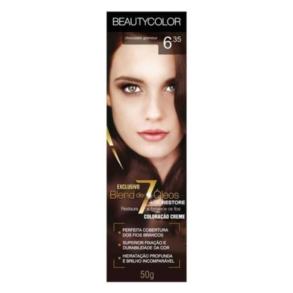 Coloração Beauty Color 6.35 Chocolate Glamour