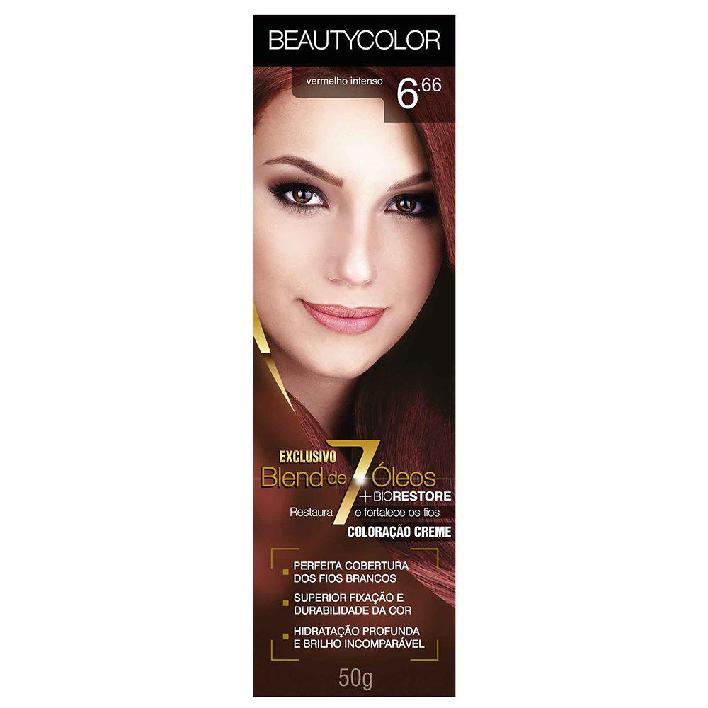 Coloração Beauty Color 6.66 Vermelho Intenso