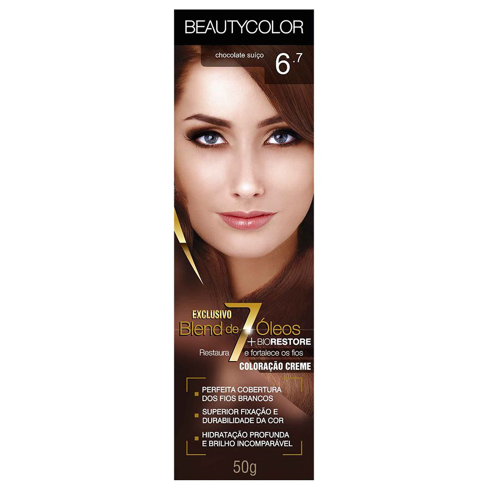 Coloração Beauty Color 6.7 Chocolate Suiço