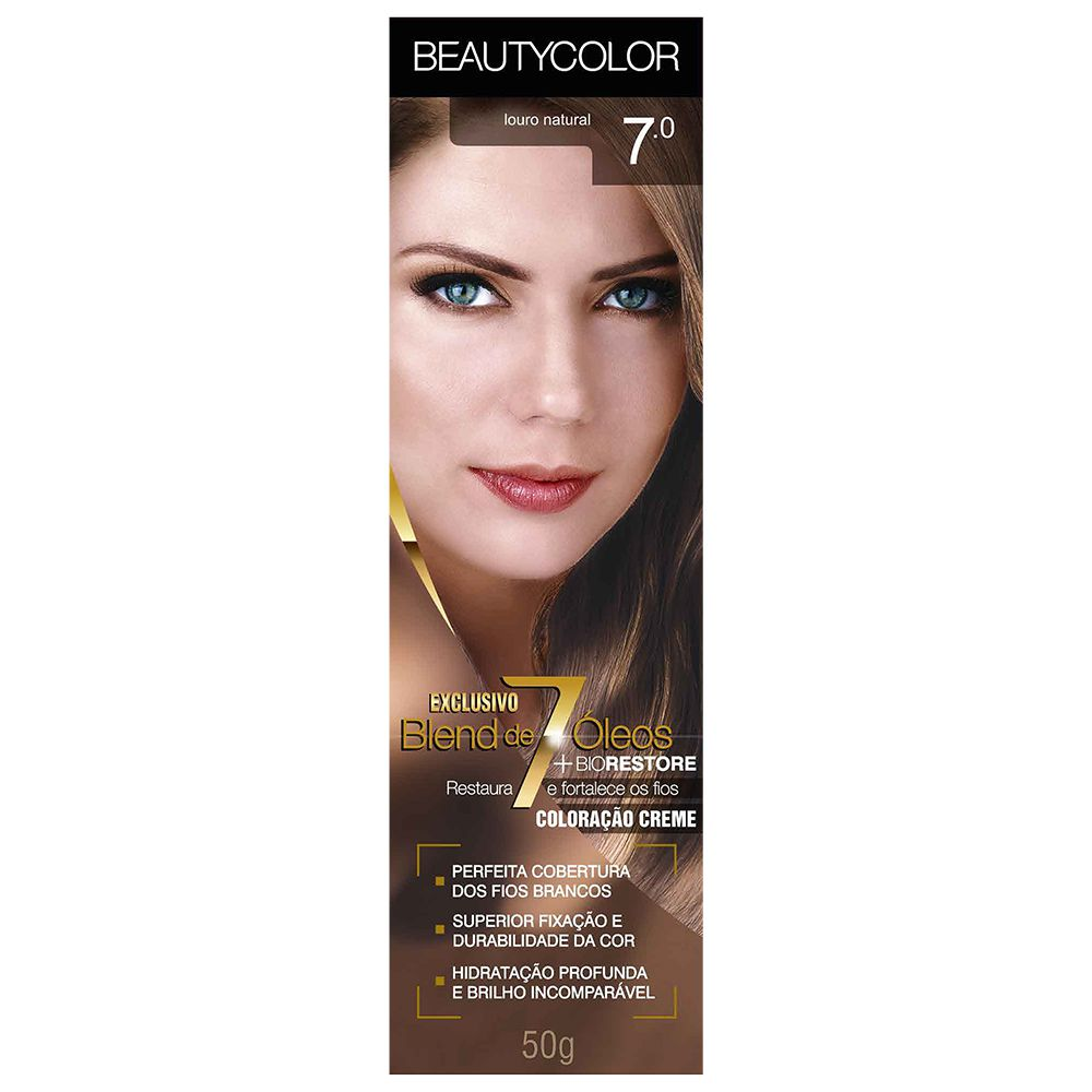 Coloração Beauty Color 7.0 Louro Natural