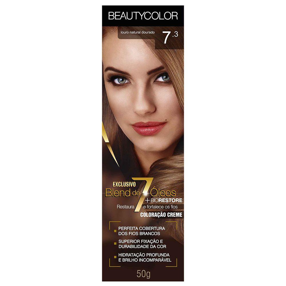 Coloração Beauty Color 7.3 Louro Natural Dourado  - Sofí Cosméticos