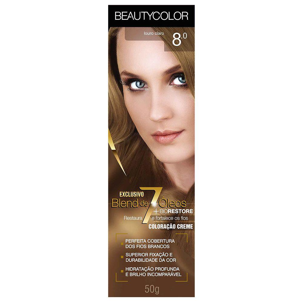 Coloração Beauty Color 8.0 Louro Claro