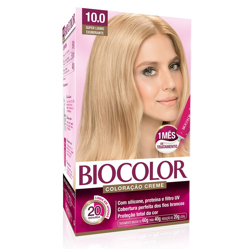 Coloração Biocolor 10.0 Super Loiro Exuberante