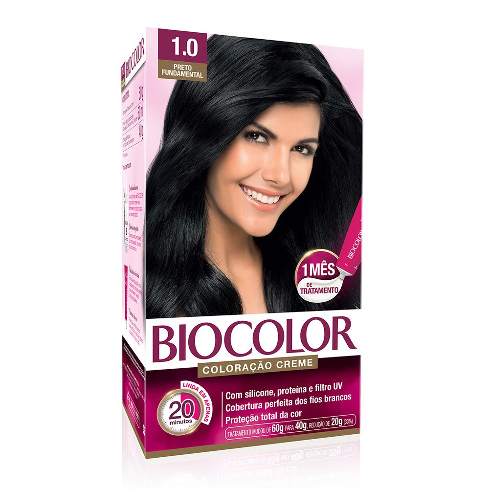 Coloração Biocolor 1.0 Preto Fundamental