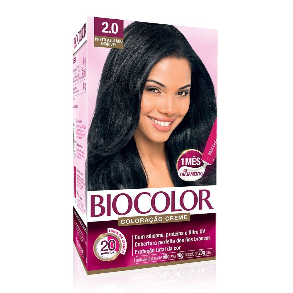 Coloração Biocolor 2.0 Preto Azulado Incrivel