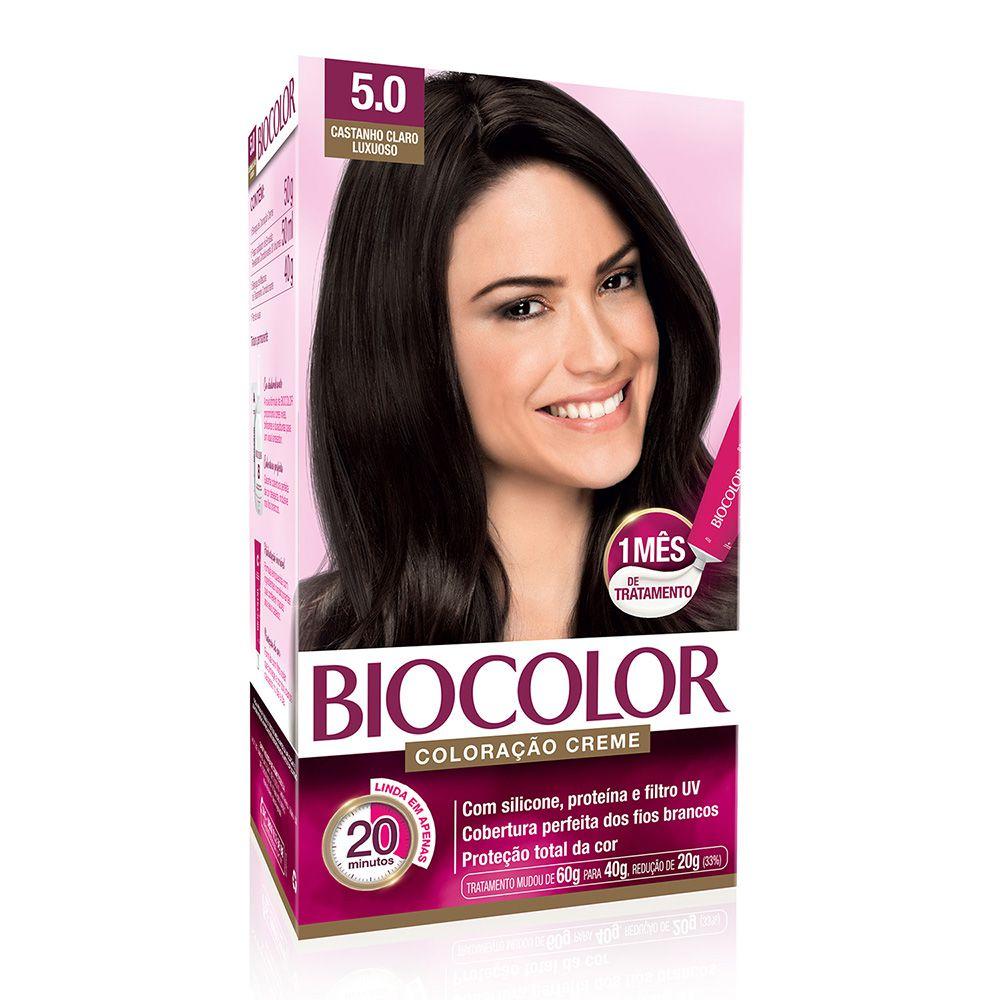 Coloração Biocolor 5.0 Castanho Claro Luxuoso