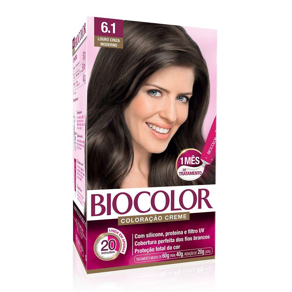 Coloração Biocolor 6.1 Louro Cinza Moderno  - Sofí Cosméticos