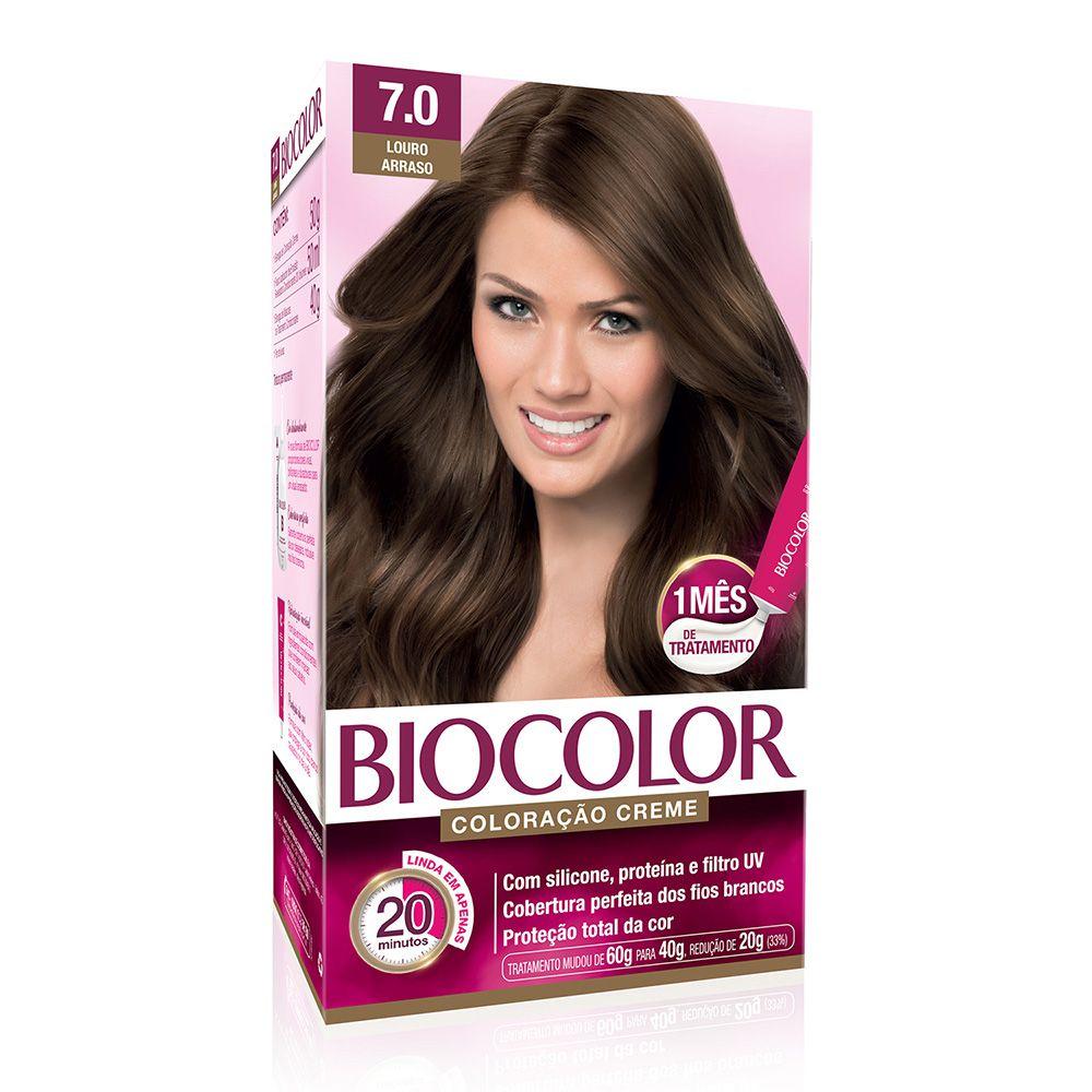 Coloração Biocolor 7.0 Louro Arraso  - Sofí Cosméticos