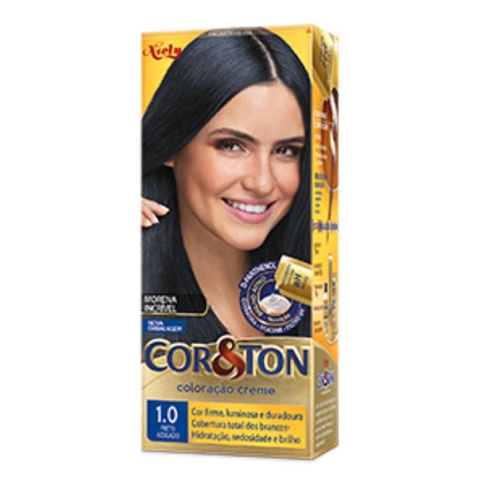 Coloração Cor&Ton 1.0 Preto Azulado