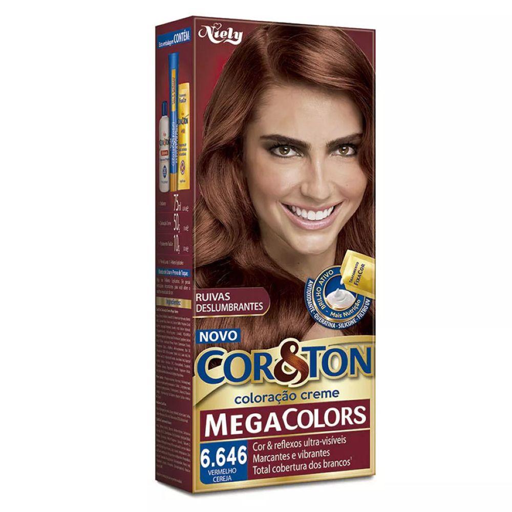 Coloração Cor&Ton 6.646 Vermelho Cereja