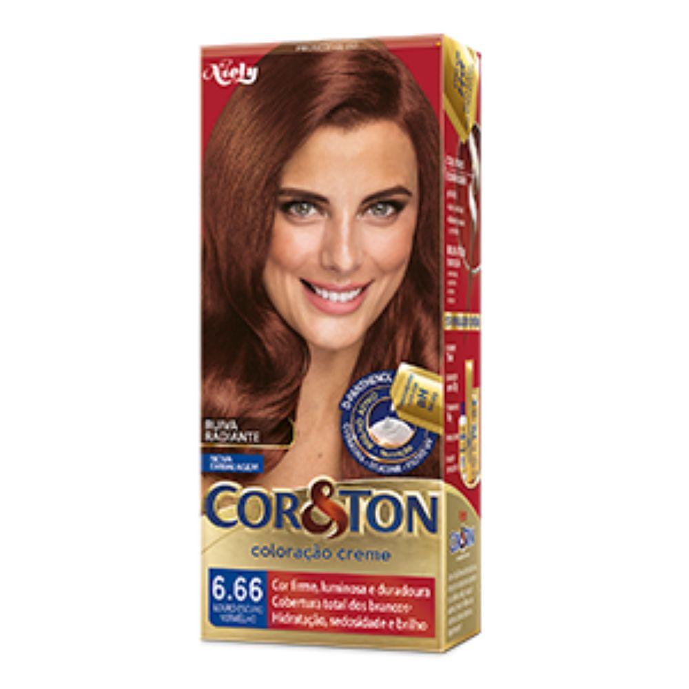 Coloração Cor&Ton 6.66 Louro Escuro Vermelho