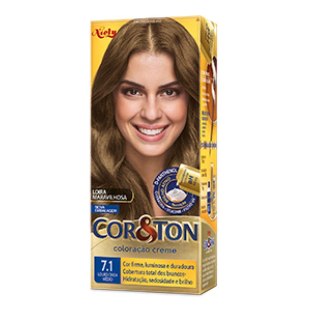 Coloração Cor&Ton 7.1 Louro Cinza Médio