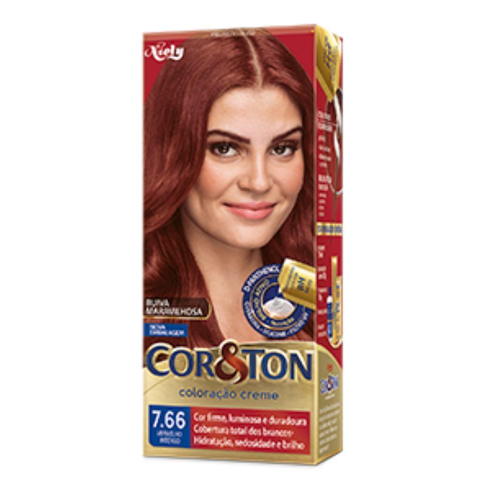 Coloração Cor&Ton 7.66 Vermelho Intenso