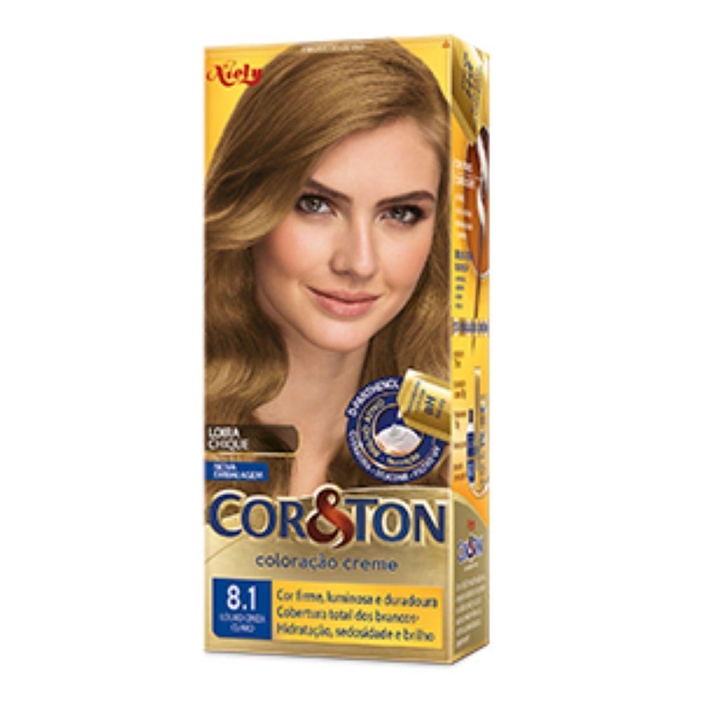 Coloração Cor&Ton 8.1 Louro Cinza Claro