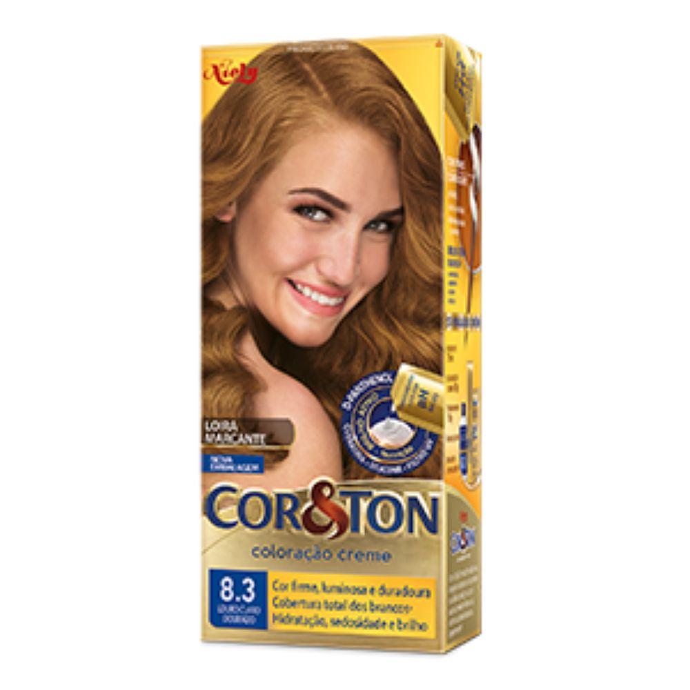 Coloração Cor&Ton 8.3 Louro Claro Dourado