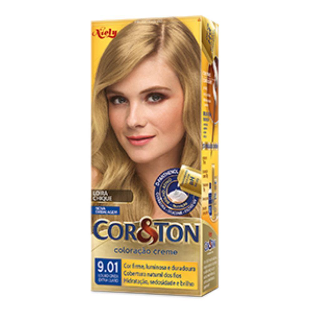 Coloração Cor&Ton 9.01 Louro Cinza Extra Claro