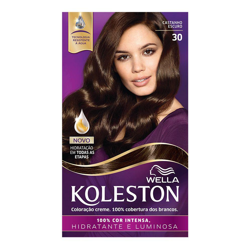 Coloração Creme Koleston 30 Castanho Escuro