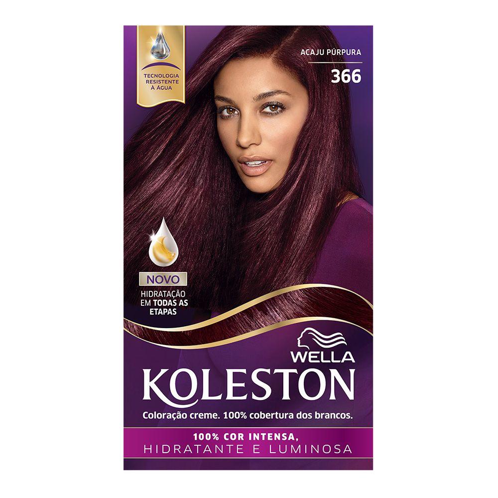 Coloração Creme Koleston 366 Acaju Púrpura  - Sofí Cosméticos