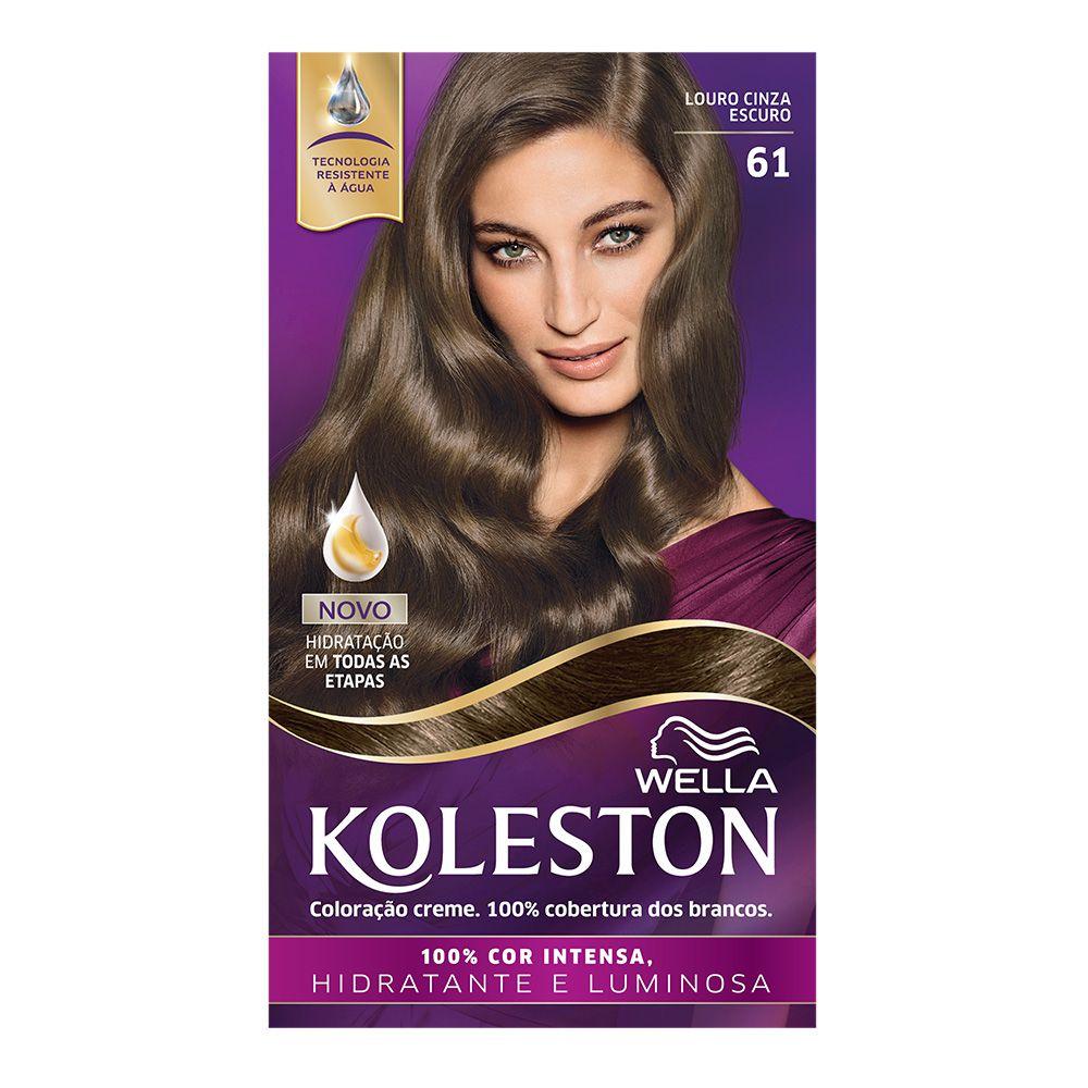 Coloração Creme Koleston 61 Louro Cinza Escuro