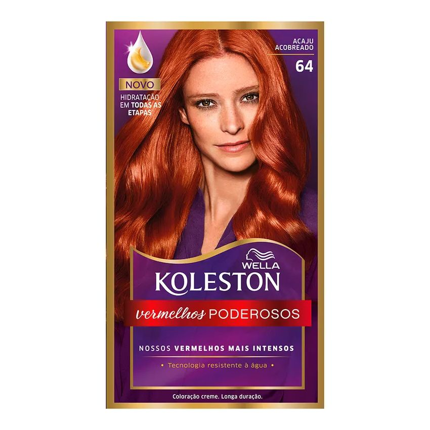 Coloração Creme Koleston 64 Acaju Acobreado