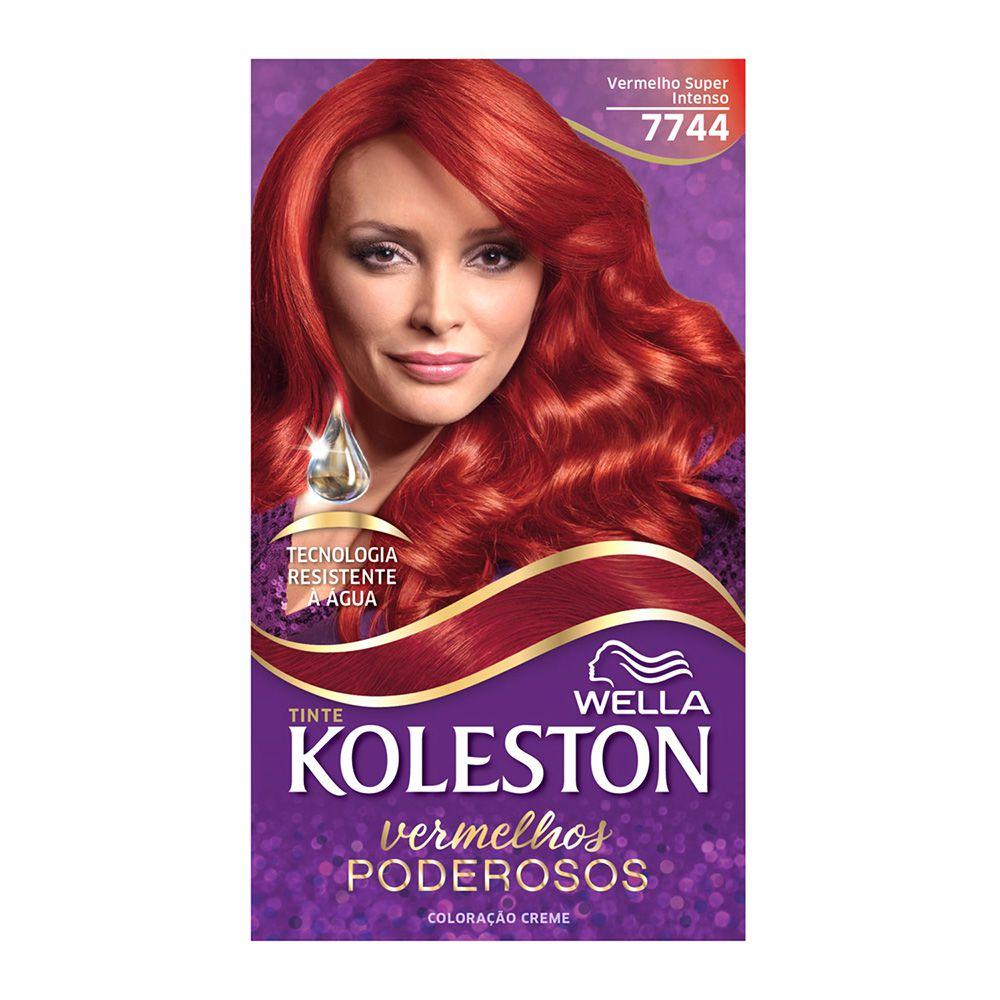 Coloração Creme Koleston 7744 Vermelho Super Intenso