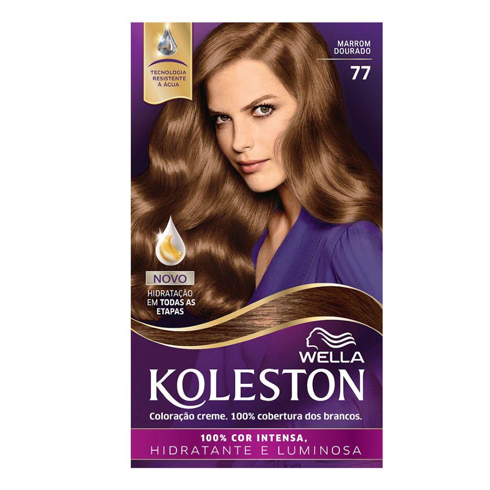 Coloração Creme Koleston 77 Marrom Dourado