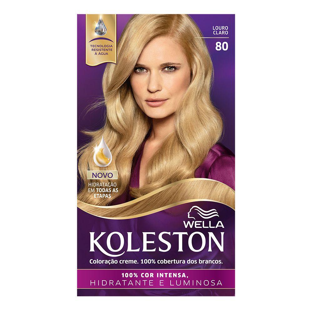 Coloração Creme Koleston 80 Louro Claro