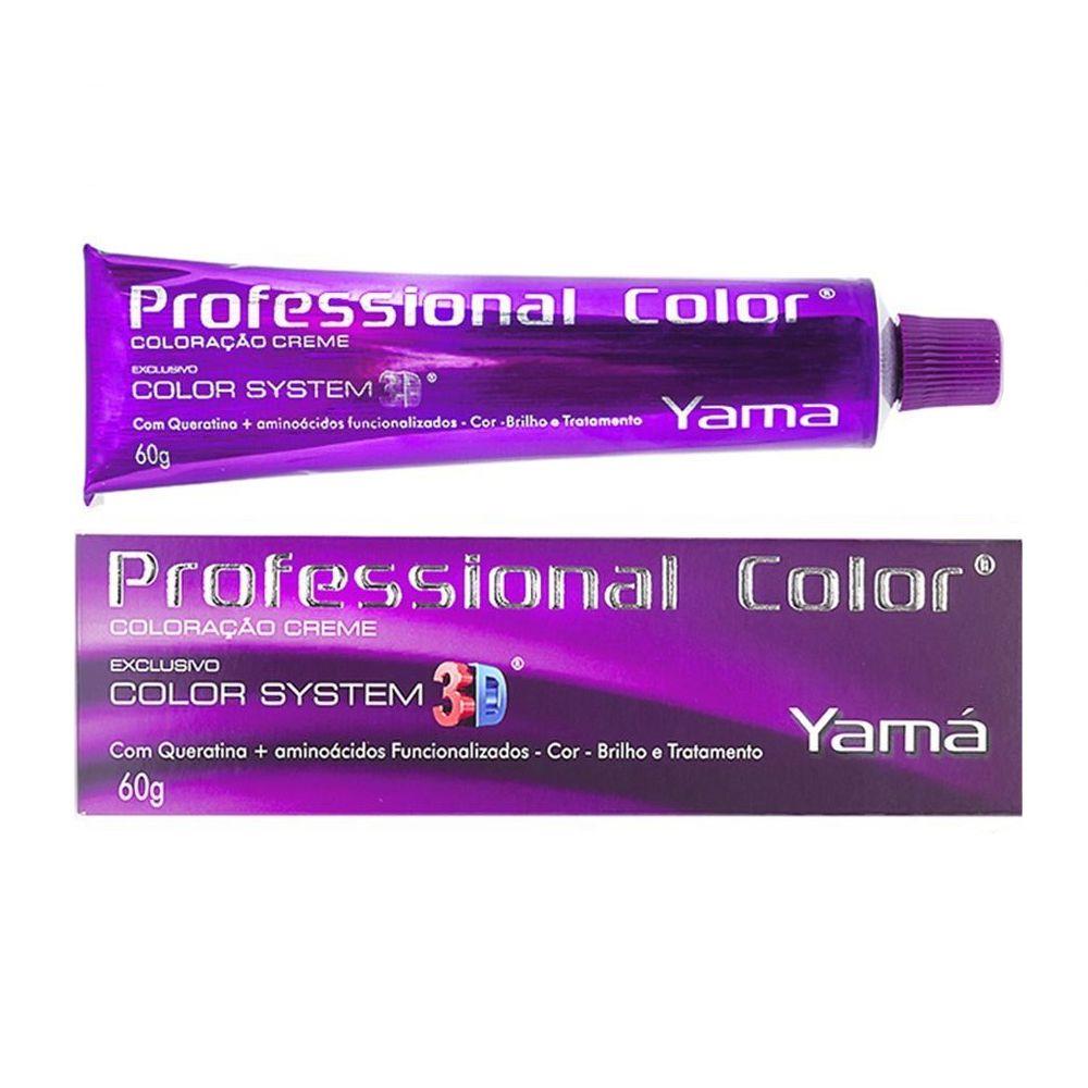Coloração Creme Yamá 6.35 Louro Escuro Dourado Acaju