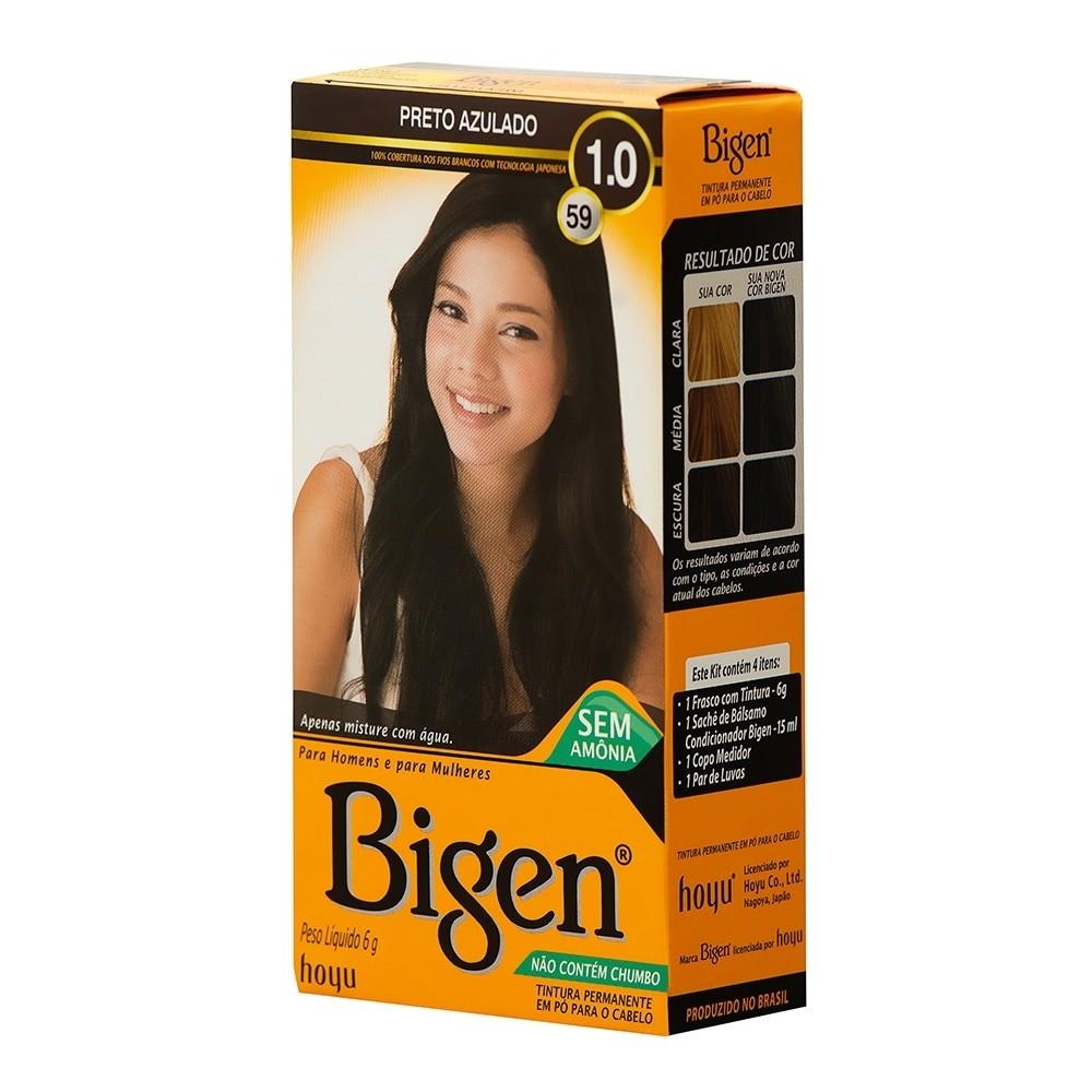 Coloração em Pó Bigen 59 Preto Azulado 1.0