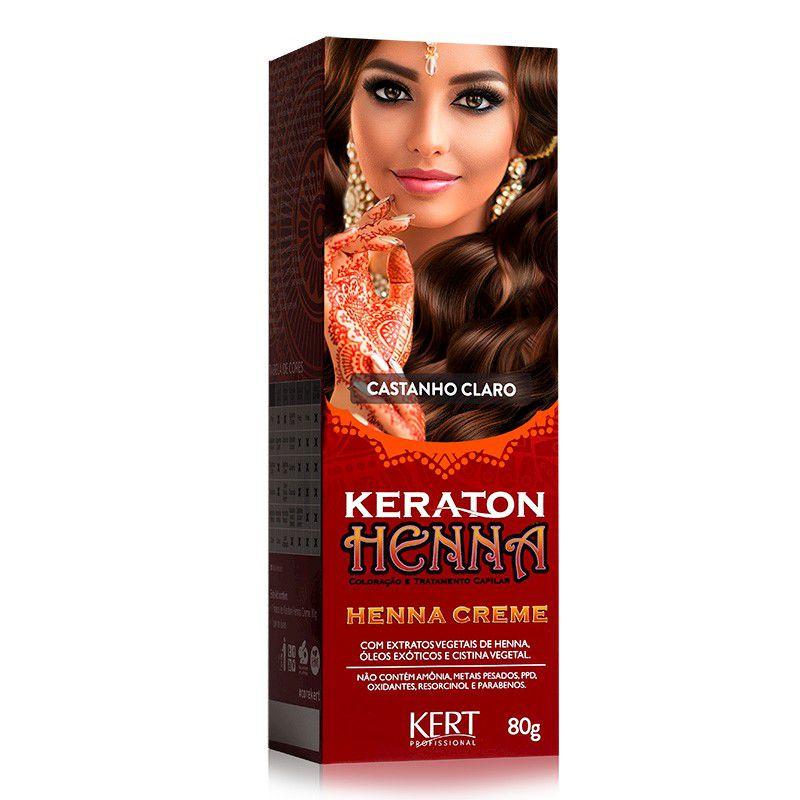 Coloração Henna Keraton Castanho Claro