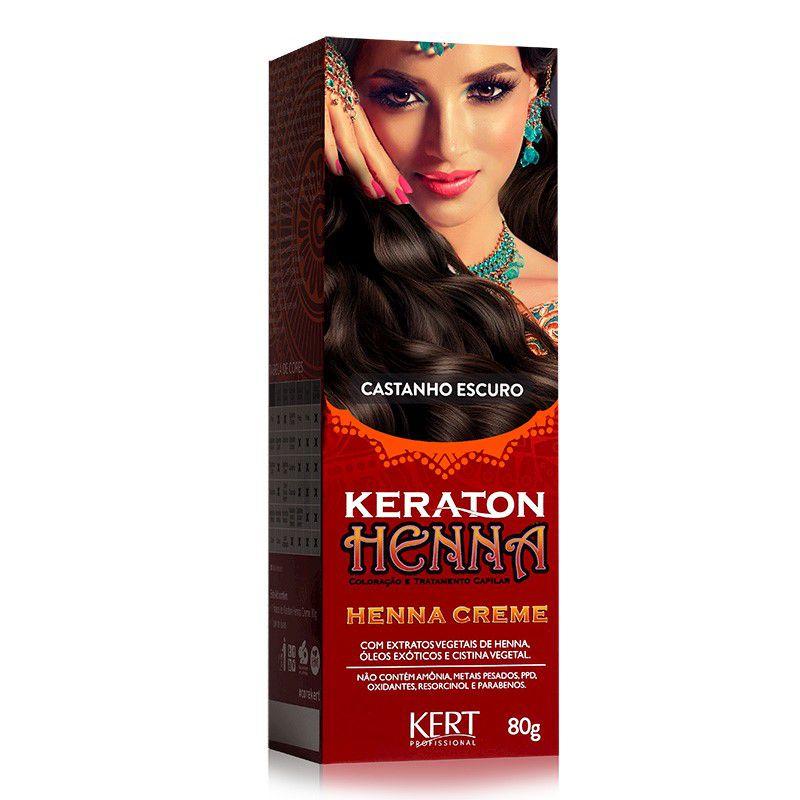 Coloração Henna Keraton Castanho Escuro