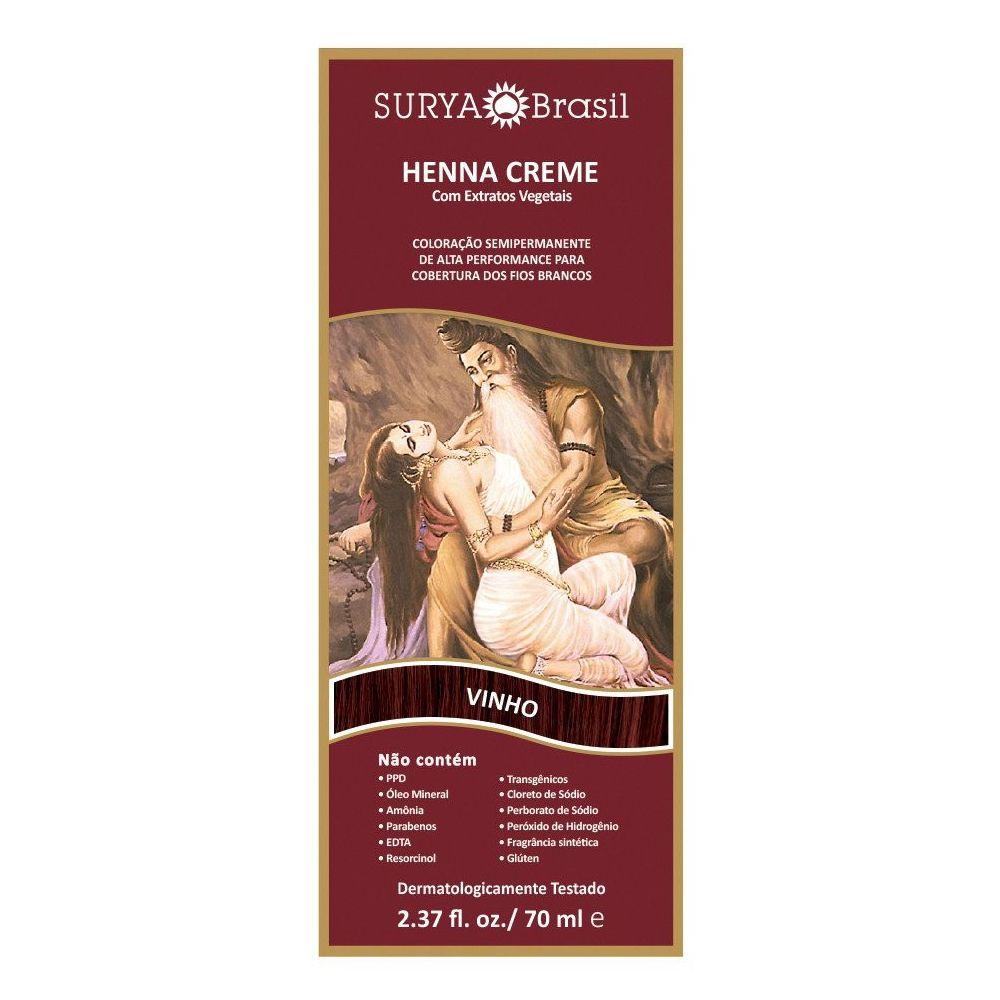 Coloração Henna Surya Creme Vinho  - Sofí Cosméticos