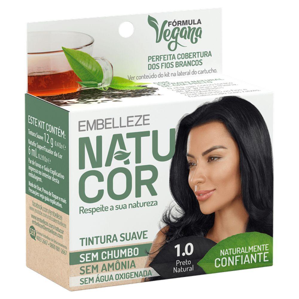 Coloração Natucor 1.0 Chá Preto (Preto Natural)
