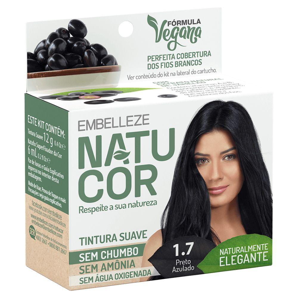 Coloração Natucor 1.7 Jamelão (Preto Azulado)