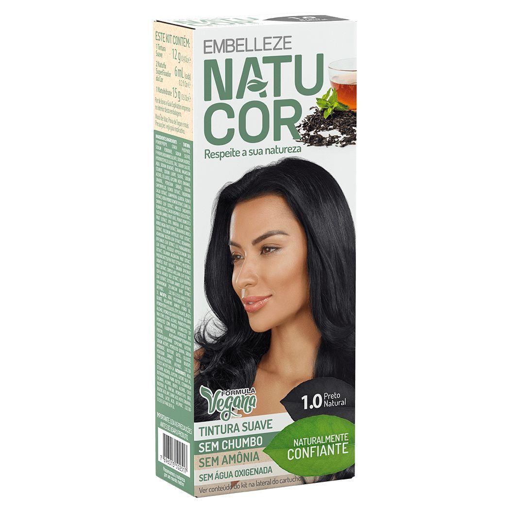 Coloração Natucor Kit 1.0 Chá Preto (Preto Natural)