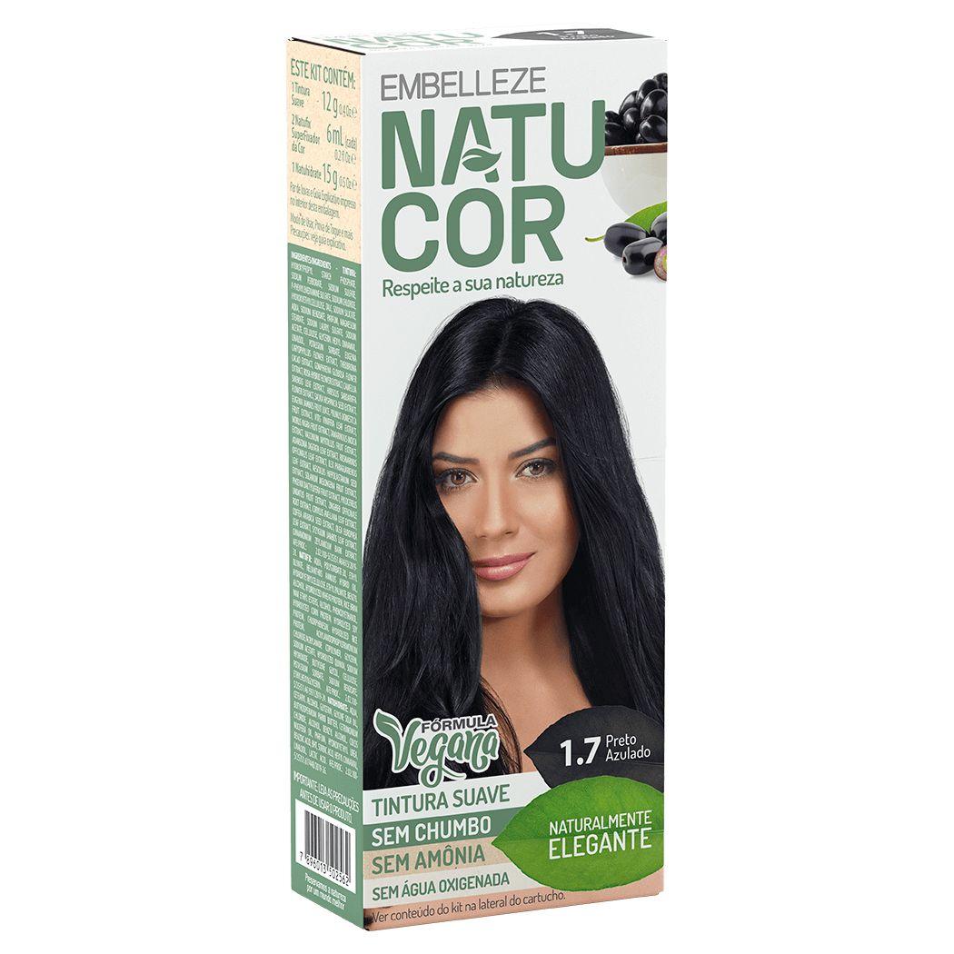 Coloração Natucor Kit 1.7 Jamelão (Preto Azulado)