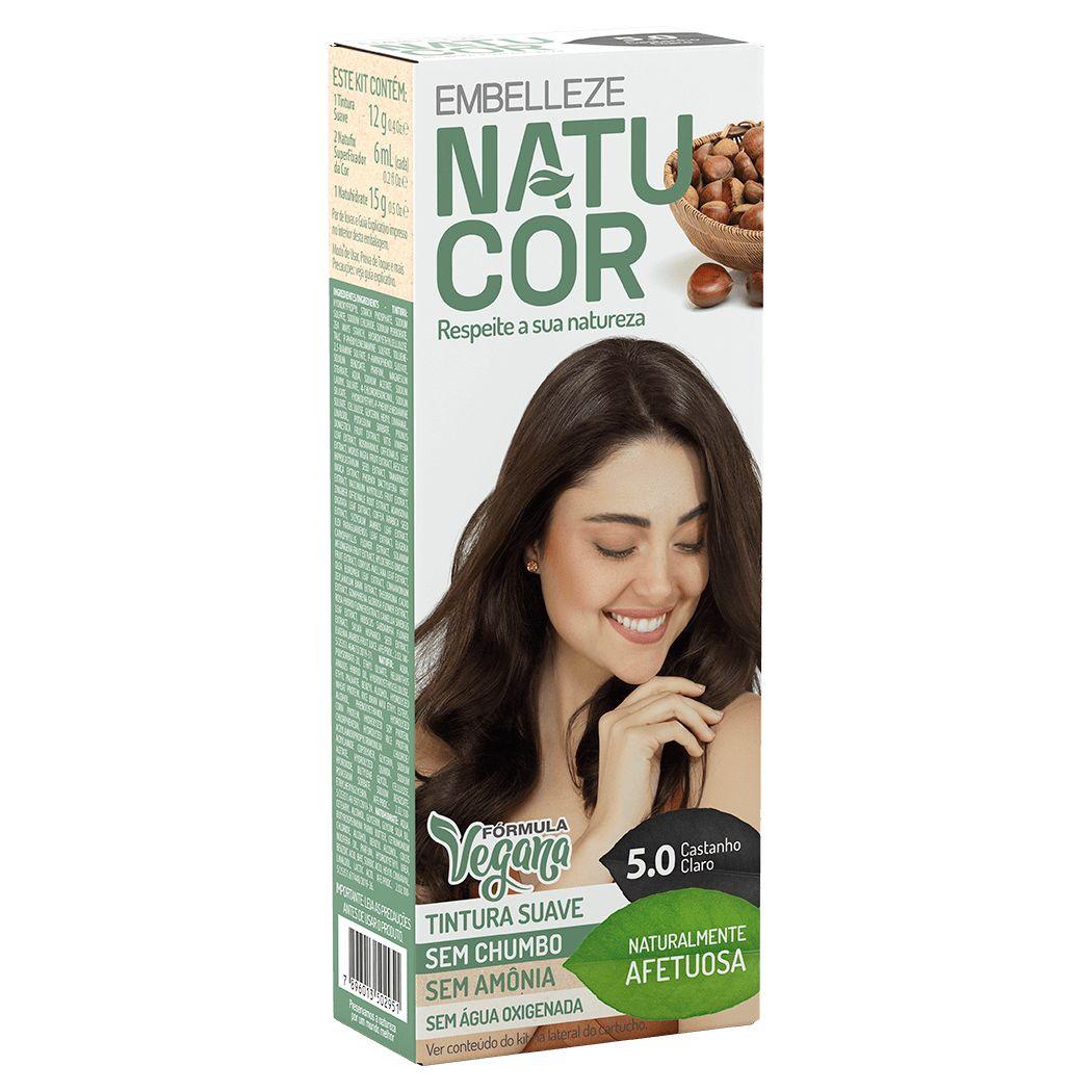 Coloração Natucor Kit 5.0 Castanha do Pará (Castanho Claro)