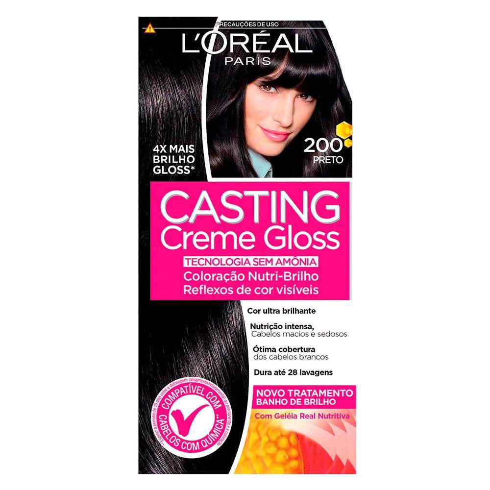 Coloração sem Amônia Casting Creme Gloss 200 Preto
