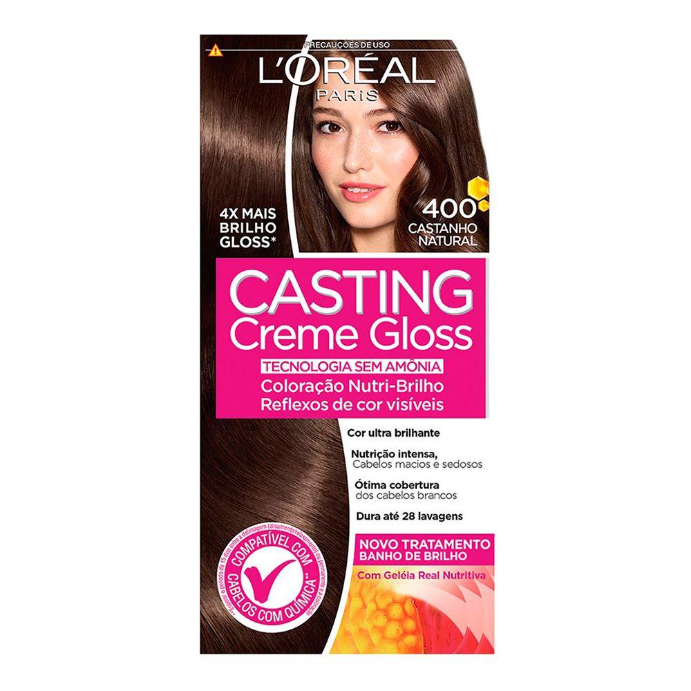 Coloração sem Amônia Casting Creme Gloss 400 Castanho Natural
