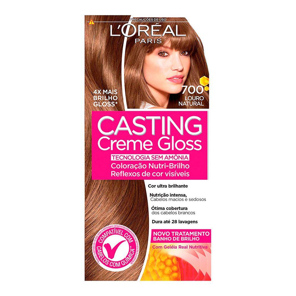 Coloração sem Amônia Casting Creme Gloss 700 Louro Natural